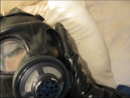 Gas mask fetish video